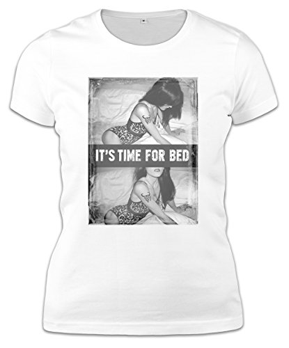 It'S Time For Bed Sexy Hot Babe T-Shirt - Medium Womens