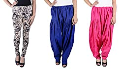 IPG MEGACORP Combo of 2 Women Salwar & 1 legging