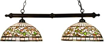 Turning Leaf Tiffany Stained Glass Kitchen Island Pendant