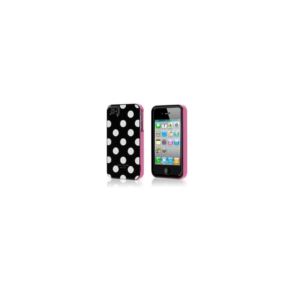 Kate Spade Large White Polka Dots Hardshell Case for Iphone 4 & 4s