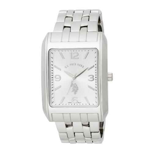 U.S. Polo Assn. Classic Men'S Usc80020 Rectangular Silver Dial Bracelet Watch