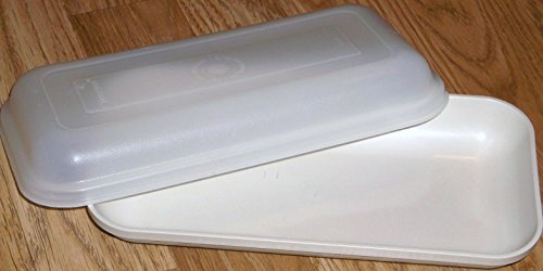 Vintage Tupperware Almond Ultra 21 Microwave Convection Oven Tray W/Lid