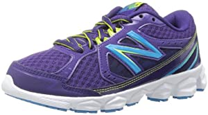 New Balance KJ750 Youth Lace-Up Running Shoe (Toddler/Little Kid/Big Kid),Dark Purple,5 M US Big Kid