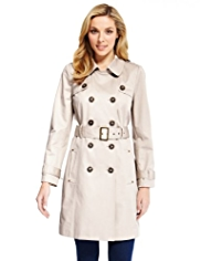 M&S Collection Pure Cotton Belted Trench Coat with Stormwear™