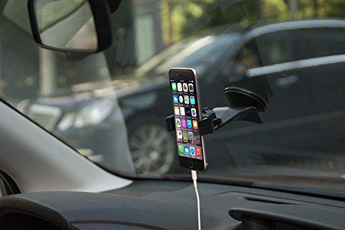 zilu universal smart phone car mount dashboard and windshield holder cradle for iphone 6 5s 5c. Black Bedroom Furniture Sets. Home Design Ideas