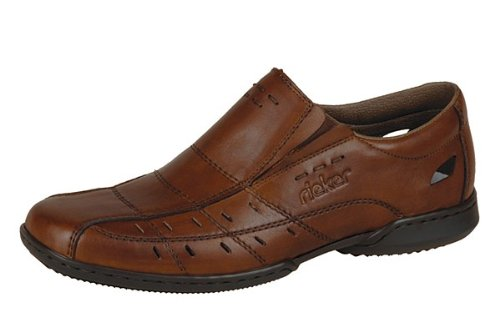 Rieker Mens 07977-24 Glen Shoes Brown Size 43 EU