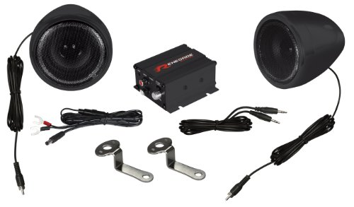 Renegade Rxa100B Powersports Sound System - Set Of 2 (Black)