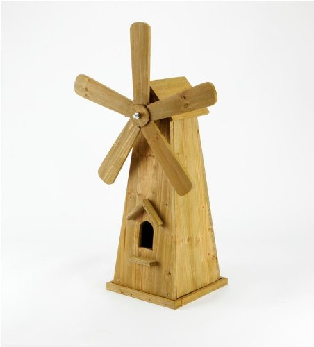 Wooden Mini-Windmill Wooden Patio Ornament