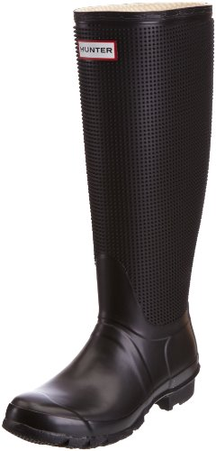 Hunter Women's Carnaby Fringe Black Wellington Boot W24366 8 UK