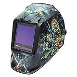 Welding Helmet, Zombie Graphic, Black/Blue (Color: Zombie)