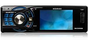 """XOMAX XM-DVB3006 Autoradio / Moniceiver / Lecteur multimédia + Bluetooth mains libres + 7,6 cm / 3 """" Ecran couleur + Codefree lecteur DVD / CD / MP3 / WMA / MPEG4 / AVI / DIVX + port USB et carte SD + Connexion pour caméra de recul et Subwoofer + Single DIN (DIN 1) taille standard de montage + avec télécommande"""