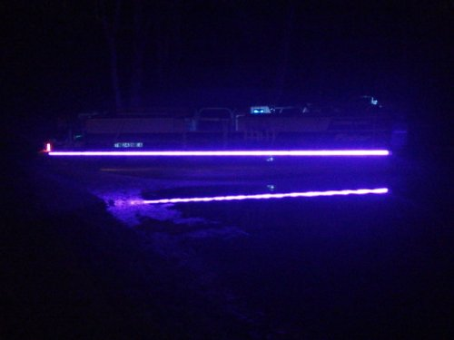 8' Led Black Light Ultraviolet Uv 8 Foot Night Fishing Will Make Anything Fluorescent Glow. Car Truck Motorcycle Boat Pontoon