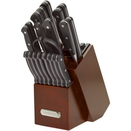 Knife / Knife Set With Block, Stainless Steel Classic Forged Triple Riveted Cutlery Set with Built-in Knife Sharpener, 21 Piece (Classic Butcher Knife compare prices)