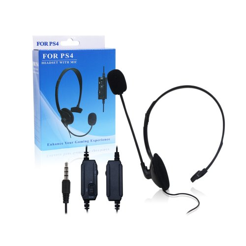 Image® New Wired Playstation 4 Ps4 Gaming Chat Headset With Mic Volumn Control 3.5Mm Jack, Compatible With Smarphone Android Phone Iphone 4/4S/5/5C/5S, Laptop Pc