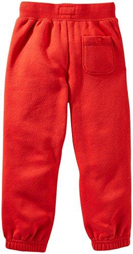 OshKosh B'gosh Little Boys' Fleece Athletic Pants (Toddler/Kid) - Red - 5