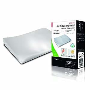 CASO Profi- Folienbeutel 30x40 cm (1220) / 50 Beutel für alle Balken Vakuumierer geeignet / Kochfest - Mikrowellen geeignet - Sous Vide geeignet / stabile Schweißnaht