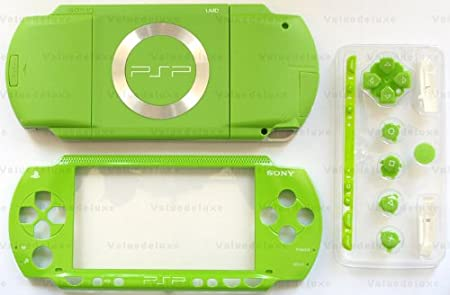 Apple Green PSP 1000 Series Full Shell Cover Housing Replacement with Button Set
