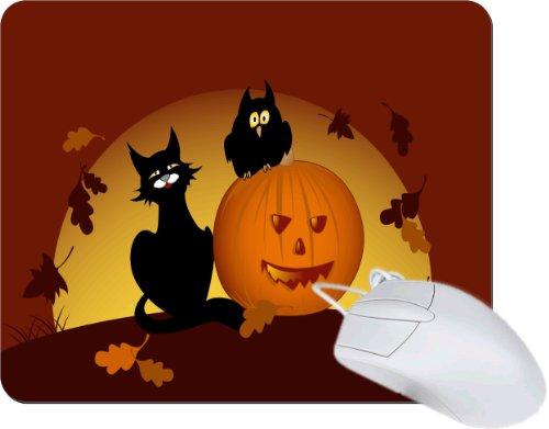 Rikki Knighttm Halloween Pumpkin And Black Cat Tanpad Ultra Thin Mouse Pad Ideal For All Laptops, Notebooks, Macbook Air, Macbook Pro front-565039