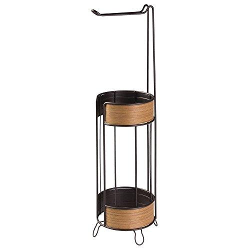 interdesign-90172eu-realwood-support-pour-papier-toilette-autoportant-metal-placage-de-bois-finition