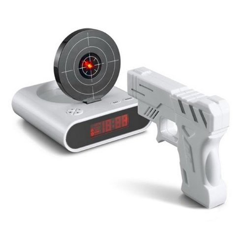 Marchmore Laser Target Gun Alarm Clock With Lcd Screen