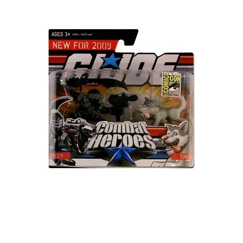 G.I. Joe Combat Heroes SDCC Exclusive Snake Eyes and Timber his Wolf Action Figures 2-Pack - 1