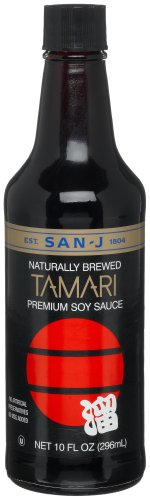 San-J Tamari Premium Soy Sauce, 10-Ounce Bottles (Pack of 6)