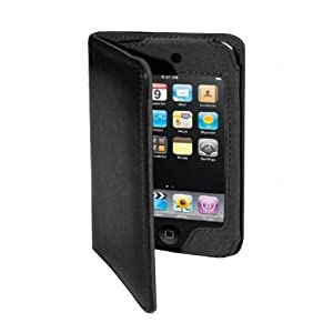 BadBoyz Luxury Black Leather Case for iPod Touch 2nd Generation 8GB / 32GB / 64GB & Screen Protector