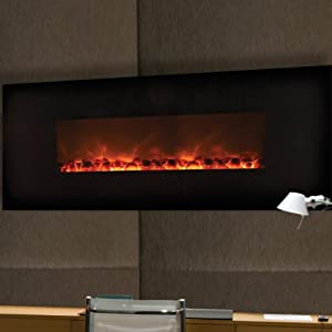 Dream Flame Wall Mount Linear Electric Fireplace Size 58