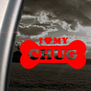 I Love My Chug Red Decal Car Truck Bumper Window Red Sticker PDF