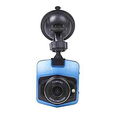 "autvivid 2.4"" 140 Degree 1080P Car Camera Recorder Camcorder DVR Novatek G-Sensor Night Vision Blue"