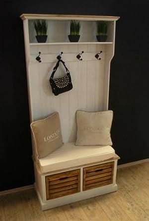 Garderobe Selber Bauen Garderobe Mit Sitzbank Antik Weiß