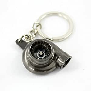 Ariic new creative car turbocharger keychain key ring turn for Key motors used cars