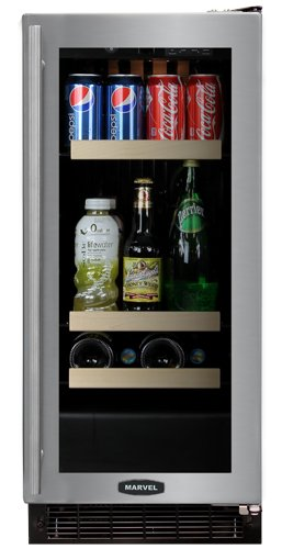 4 Bottle Dual Zone Wine Refrigerator Finish: Black Cabinet With Black Frame Glass Door, Hinge Location: Right