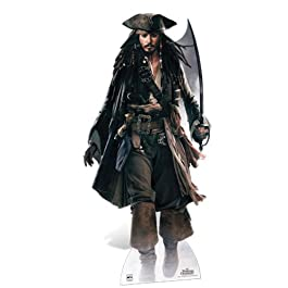 Pirates of the Caribbean - Lifesize Cut-Out Captain Jack Sparrow (in 184 cm)