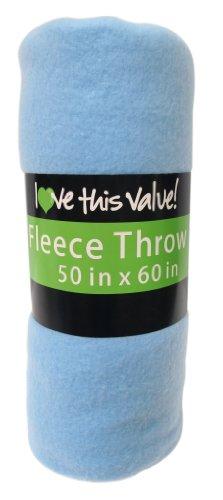 Imperial 50 X 60 Inch Ultra Soft Fleece Throw Blanket - Blue