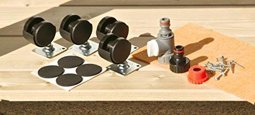 Hochbeet-montiert-in-pinienbraun-mit-Rollen-Kunststoffwanne-und-Ablage-sofort-einsatzbereit