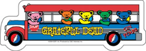Licenses Products Grateful Dead Bus Sticker