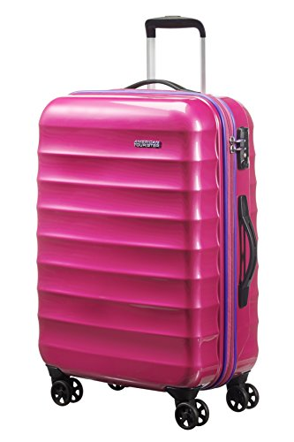 American Tourister Palm Valley Spinner 67/24, Valigia, Litri 60.8, Pink Sparkle