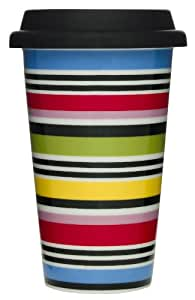 Sagaform 5016017 Double Wall Porcelain Studio Take Away Mug with Silicone Lid