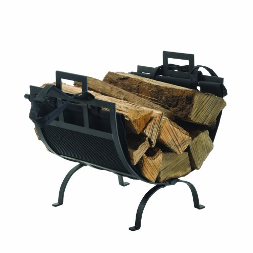 Lowest Prices! Pleasant Hearth Log Holder with Canvas Tote Carrier