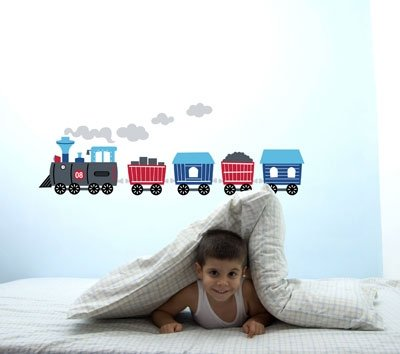 Forwalls Train Removable Wall Decal Stickers - 1