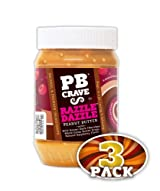 PB Crave Natural Peanut Butter, Razzle Dazzle, 16oz Jars, (Pack of 3)