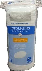 Exfoliating cotton pads