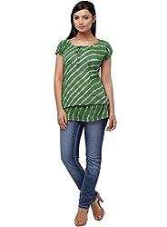 Miraaya Women's Tunic (IN2061B_3549_Green_X-Large)