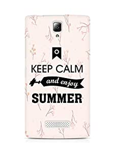 Amez Keey Calm and Enjoy Summer Back Cover For Lenovo A2010