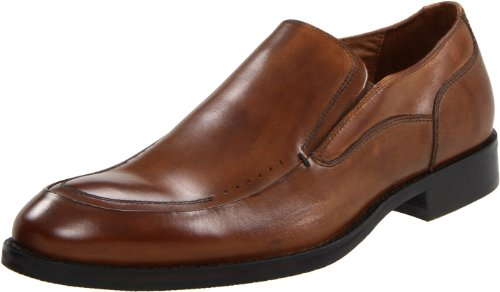Johnston & Murphy Men's Tyndall Moc Venetian Slip-On,Tan Italian Calf,9.5 M US