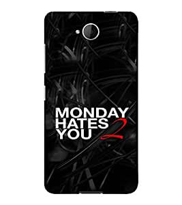 PrintVisa Funny Monday Quotes Design 3D Hard Polycarbonate Designer Back Case Cover for Nokia Lumia 650