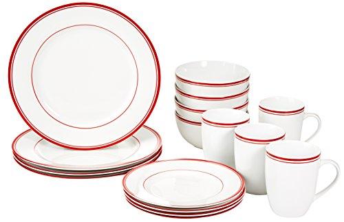 amazonbasics-service-de-table-16-pieces-pour-4-personnes-motif-rayures-rouge