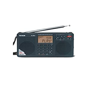 Tecsun PL398MP DSP Digital AM/FM/LW Shortwave Radio with Dual Speakers & MP3 Player, Black