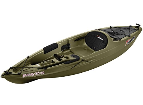 Sun Dolphin Journey sit-on-top Fishing Kayak, 10-Feet, Olive
